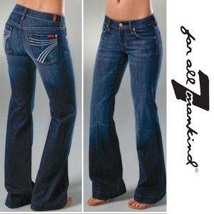 "7 For All Mankind ""Dojo"" Dark Wash Flare Jeans"